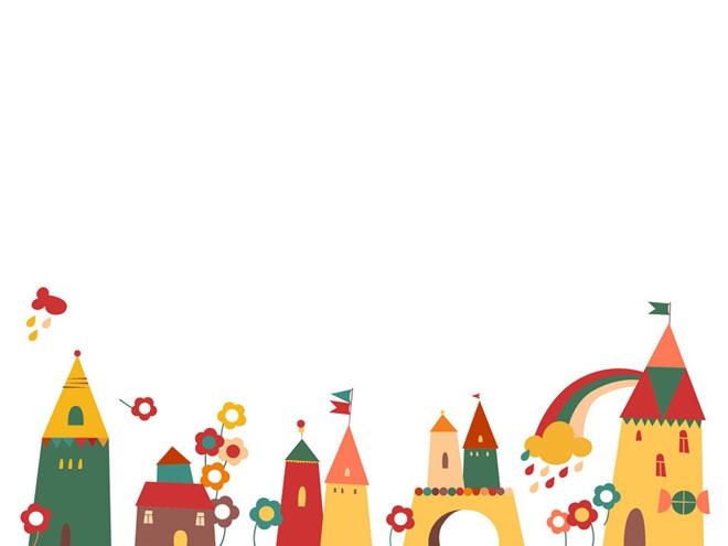 儿童节,六一ppt背景图片 卡通城堡乐园ppt背景图片