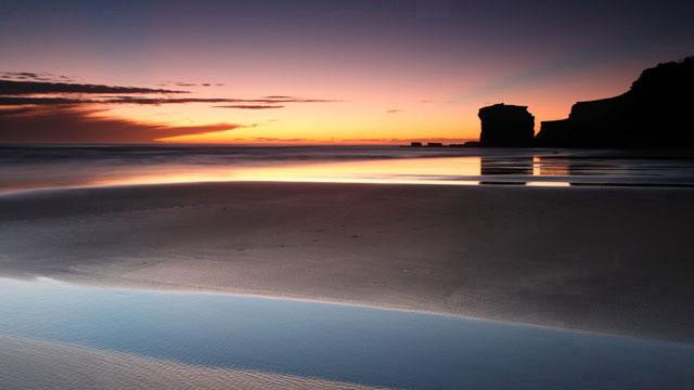 海边海滩 优美的海滩自然风光ppt背景图片