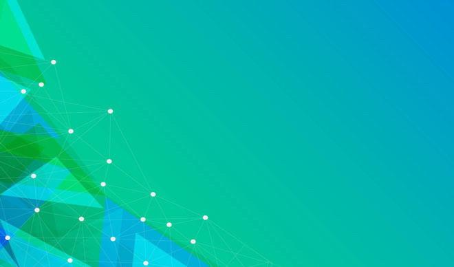 > 绿色渐变ppt背景图片 绿色科技风格的点线多边形ppt背景图片   素材