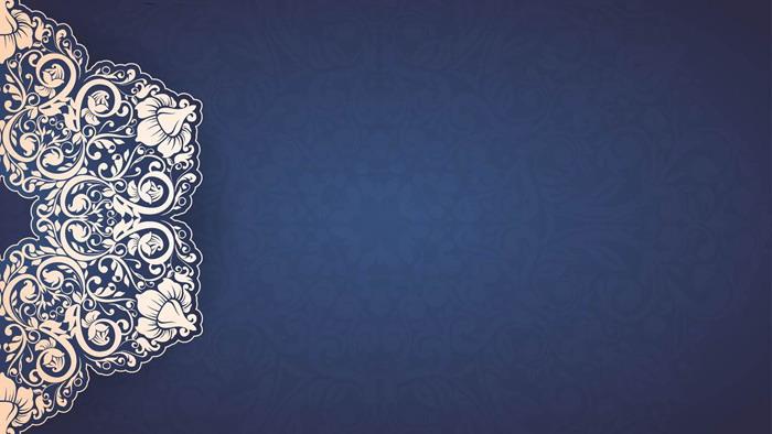 蓝色幻灯片背景图片 5张蓝色精致花纹powerpoint背景图片